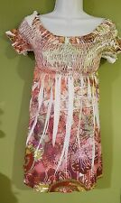 Dress by tattoo tattoo sundress off the shoulder in multicolor in a size small