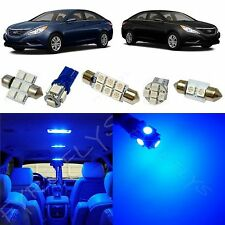 8x Blue LED lights interior package kit for 2011 & Up Hyundai Sonata YS2B