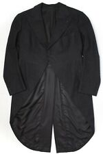 Finchley Mens Morning Jacket 42 Solid Charcoal Gray Wool Tail Coat Peak Lapels