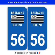 Stickers pour plaque département 56 Morbihan (jeu de 2 stickers)