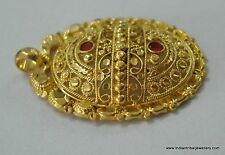 ethnic design 18k gold pendant handmade rajasthan india
