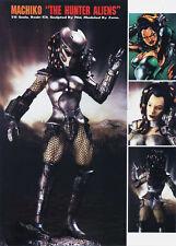 Machiko Predator Huntress Girl 1/6 Unpainted Statue Figure Model Resin Kit