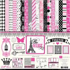 12 x 12 Echo Park be mine love Valentine's Day Paris France Scrapbook paper kit