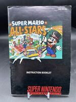 Super Mario All Stars Super Nintendo SNES Instruction Booklet ONLY VERY GOOD