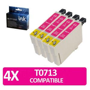4 x magento T0713 non-oem ink cartridges Epson Printer Bx3450 Stylus Cx4300 D120