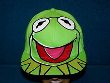 """Retro! KERMIT THE FROG fitted BALL CAP adult 7-1/2"""" @ Sesame Street MUPPETS"""