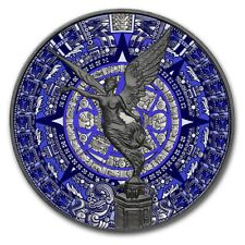 2018 Mexican AZTEC CALENDAR LIBERTAD  Ruthenium 1 Oz Silver Coin.