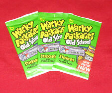 WACKY PACKAGES OLD SCHOOL 4 UNOPENED 3 PACKS IN EXCELLENT CONDITION