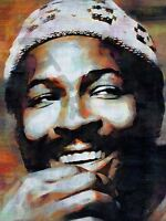 Marvin Gaye Music Album Collage Giclee Canvas Picture Art