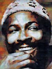 Marvin Gaye Motown Soul art print poster dipinto ad olio llff 0118
