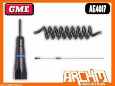 GME AE4017 UHF 60 CM BLACK STAINLESS STEEL WHIP 477 MHZ ANTENNA 6.6 DBI