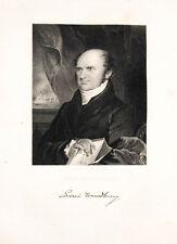 1835 Levi Woodbury Steel Engraving Portrait by Longacre