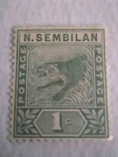 1891 Negri Sembilan Tiger  1c Green Mi.2. C87