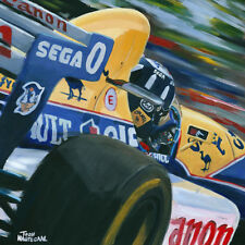 Canvas 1993 Williams Renault FW15C #0 Damon Hill (GBR) by Toon Nagtegaal LE