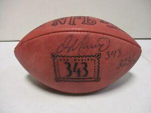 Dan Marino Wilson NFL 343 Career Touchdowns Signed Football 323/343