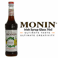 MONIN Coffee Syrups - 70cl Glass IRISH SYRUP Syrup - USED BY COSTA COFFEE