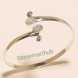 Moonstone Cuff Handmade Cuff Bracelet 925 Silver Plated Cuff Bangle Jewelry