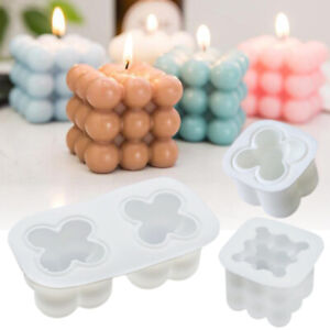 3D Silicone Candle Moulds Soy Soap Aromatherapy Candles Wax Plaster DIY Mold UK
