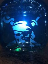 Decanter  Captain Morgan Private Stock Bottle /Etched  Pirate Skull