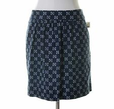 Gap Navy Blue White Print Pockets Skirt Size 14 NWT