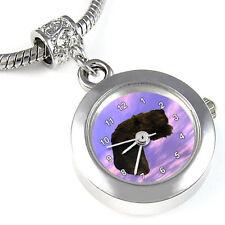 Airedale Terrier Silver Charm European Bead Watch Eba76