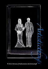 3D LASER CRYSTAL BRIDE AND GROOM -