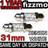 2x 31MM INTERIOR LIGHT FESTOON BULB LED XENON WHITE UK