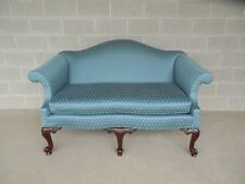 "BAKER Chippendale Style Camel Back Settee Sofa 61.5""W"