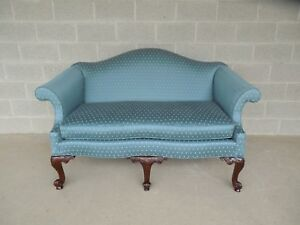 """BAKER Chippendale Style Camel Back Settee Sofa 61.5""""W"""