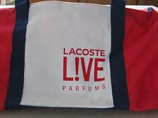 """BRAND NEW!LACOSTE LIVE DUFFLE BAG WEEKENDER BAG/GYM/TRAVEL 21.5""""Lx11.5""""H x10""""W"""