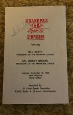 Jackie Joyner Kersee Signed Program From 1990 Feat Bill White Bobby Brown