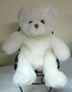 "Little Brownie Originals White Stuffed Plush Bear 11"" Soft #21B"