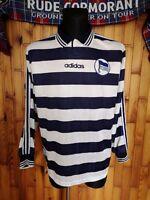 Hertha BSC Berlin Heim Trikot Langarm 1997/98 Vintage adidas Home Shirt Jersey