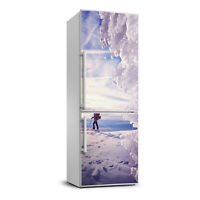 Magnet Sticker Refrigerator Wall wrap removable Peel & Stick People Skier
