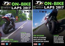 TT 2017 - ON BIKE LAPS - COMPLETE 2 DVD SET- TT Isle of Man DVD (LATEST RELEASE)
