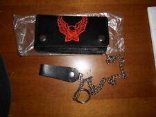 NOS Harley Davidson Vintage Eagle Black Med Wallet Chain 70's