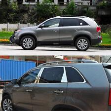 Stainless Steel Chrome Window Sills+Pillar Posts Trims Cover For Kia Sorento