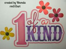 1 Of Kind Girl title paper piecing Premade Scrapbook Pages albums card by Rhonda