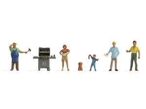 BBQ Party (5) N gauge Figure Set Noch 36593