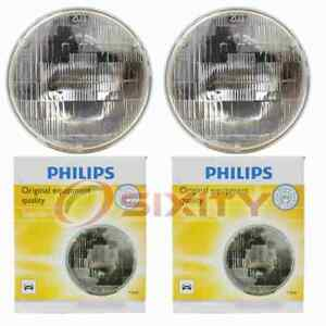 2 pc Philips High Low Beam Headlight Bulbs for Plymouth Arrow Barracuda ow