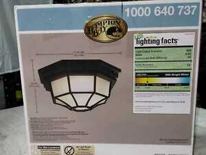 Black Outdoor LED Flushmount by Hampton Bay