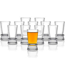 Shot Glasses Set of 12 Barware Glass Liquor Drinking Vodka Party Gift Heavy Base