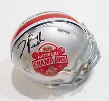 Tyvis Powell Signed Ohio State Buckeyes Mini Helmet w/COA 2014 Champions 2 C