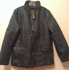 "BNWT "" Jobis "" Size 16-18 Quilted Padded Green Coat / Jacket"