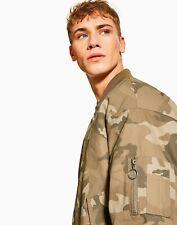 TOPMAN Oversized Camouflage Print Bomber Jacket