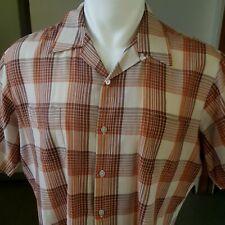 New listing 1960s Vintage Plaid Loop Collar Mr California Shirt Xl