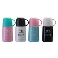 300ml Cartoon Thermos Stainless Steel Mug Cup With Handle Coffee Milk Cup Cute
