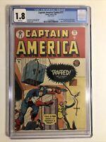 Golden Age Captain America 71.  CGC 1.8 1949