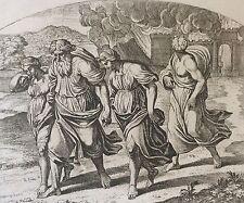 Nicolas CHAPRON 1612-1653 d'après RAPHAEL Abraham Sodome feu et soufre XVIII