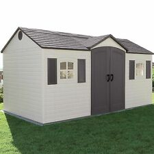 Plastic Storage Shed Side Entry Garden Building Outdoor Tool Equipment Space